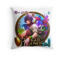 Arcade Ahri Throw Pillow