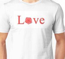 Love Flower Red Unisex T-Shirt
