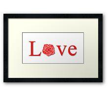 Love Flower Red Framed Print
