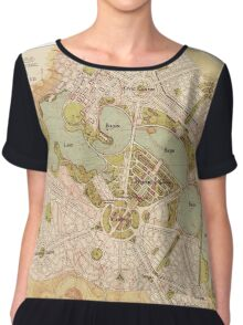 Map Of Canberra 1913 Chiffon Top