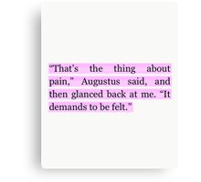 The Fault in Our Stars Purple Pain Quote Canvas Print