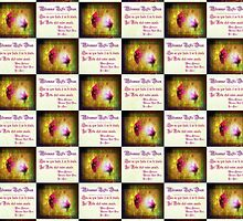 marriage of Titania; Salmon berry floral duet Shakespearean quotepattern by Dawna Morton