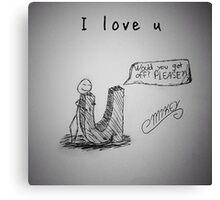 "PUN COMIC - ""I LOVE U"" Canvas Print"