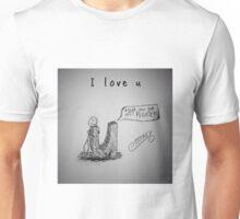 "PUN COMIC - ""I LOVE U"" Unisex T-Shirt"