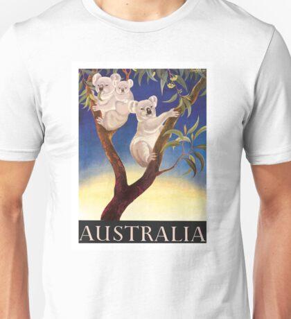 1956 Australia Koalas Travel Poster Unisex T-Shirt