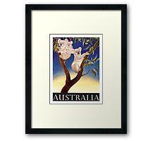 1956 Australia Koalas Travel Poster Framed Print