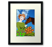 Love for Horses (2479 Views) Framed Print