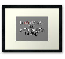Wicked sex no. 2 Framed Print