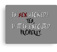 Wicked sex no. 2 Canvas Print
