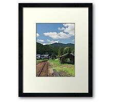 Countryside Waystop Framed Print