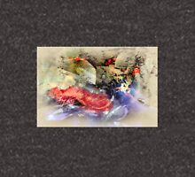 Koi Fish Pond Abstract Antique Plate Unisex T-Shirt