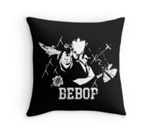 Cowboy Bebop - A Space Symphony WHITE Throw Pillow
