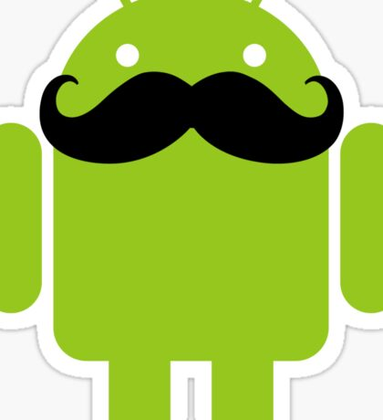 Mustache Android Robot Sticker
