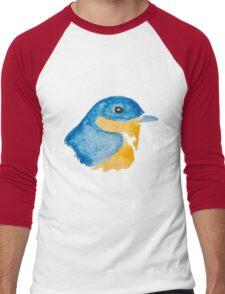 Bluebird Watercolor Men's Baseball ¾ T-Shirt