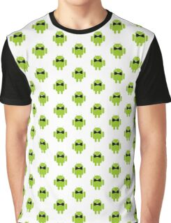 Formal Atire Android Robot Graphic T-Shirt