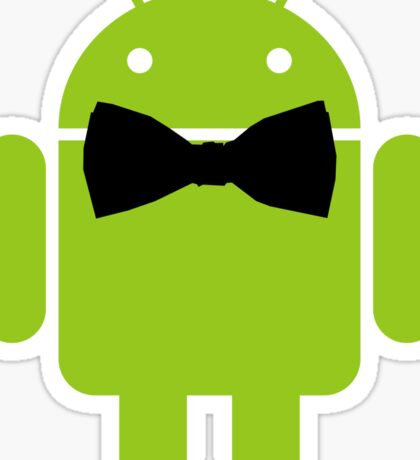 Formal Atire Android Robot Sticker