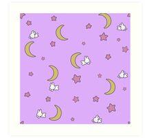 Sailor Moon inspired Bunny of the Moon Bedspread Blanket Print Art Print