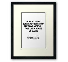 Checkmate - Futurama Framed Print