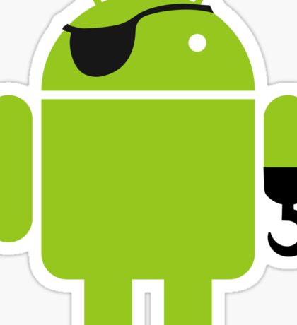 Pirate Android Robot Sticker