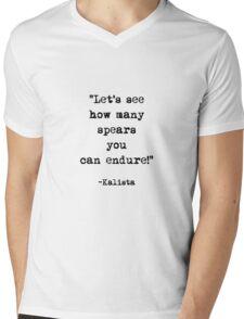 Kalista quote Mens V-Neck T-Shirt