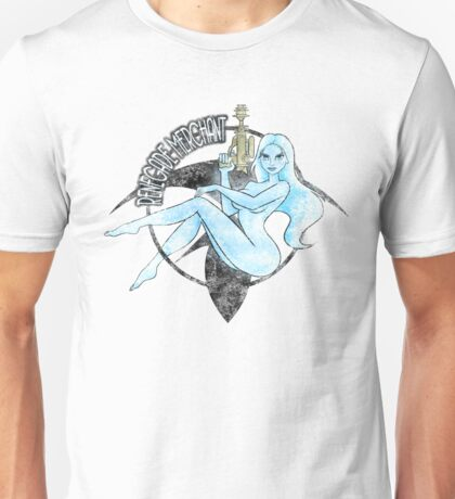 Jil Renegade Merchant pin-up - distressed (for light background) Unisex T-Shirt
