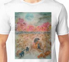 Black Cats Under the Harvest Moon Unisex T-Shirt