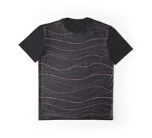 Shimmery Waves - Fuchsia  Graphic T-Shirt