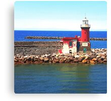 Red Lighthouse Canvas Print