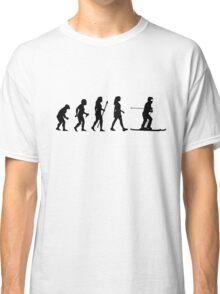 Skiing Evolution Funny Women's T Shirt Classic T-Shirt