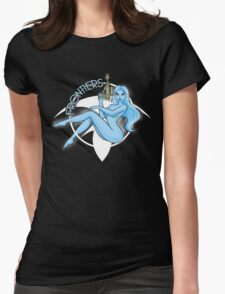 Jil Frontiers pin-up (for dark background) Womens Fitted T-Shirt