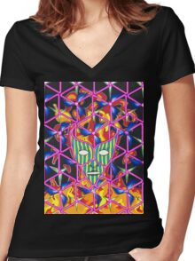 Ego Death Women's Fitted V-Neck T-Shirt
