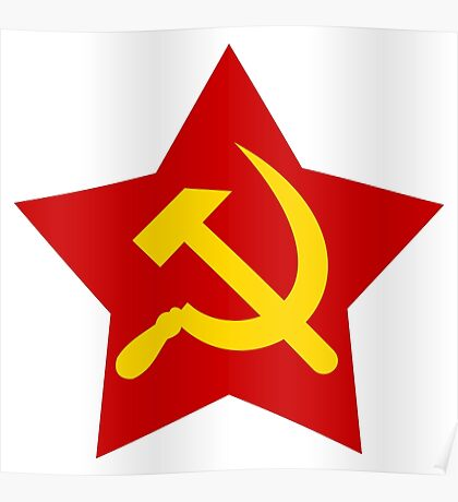 Hammer and Sickle in star Poster