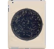 Antique Map of the Night Sky, 19th century astronomy iPad Case/Skin