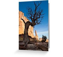 Old Tree and redrock cliffs Greeting Card