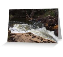 Murray River in a rush Greeting Card