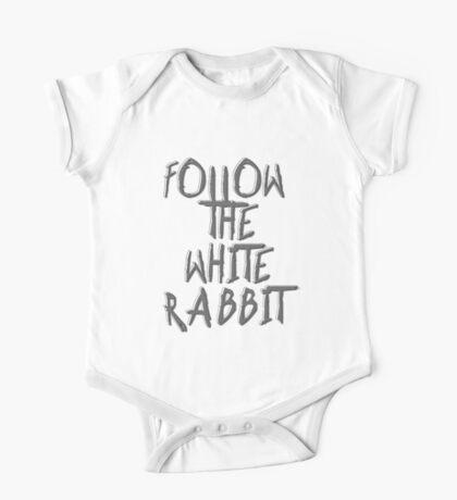 Follow the white rabbit... One Piece - Short Sleeve