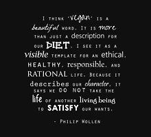 Philip Wollen Vegan Quote Unisex T-Shirt