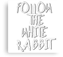 Follow the white rabbit... no. 2 Canvas Print