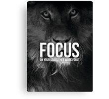 FOCUS On Your Goals (Lion Motivation) Canvas Print