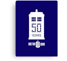 50 years dr who Canvas Print