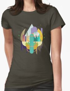 colorful shapes Womens Fitted T-Shirt
