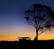 A country Sunset - Near Dalby Qld Australia by Beth  Wode