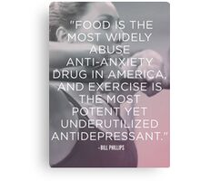 Food vs Exercise Canvas Print