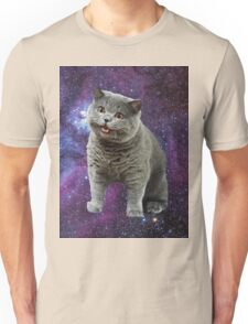 Cats Floating in a Galaxy Unisex T-Shirt