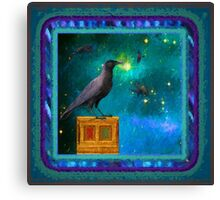 Raven looking into the eternal Night Canvas Print