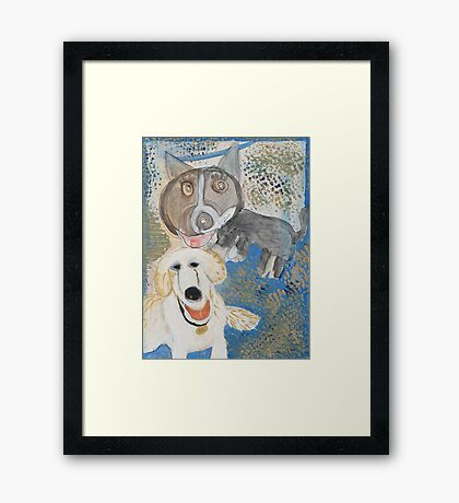 Dodger and Buffy by Dylan and Peter Framed Print