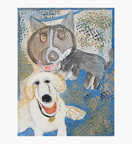 Dodger and Buffy by Dylan and Peter Photographic Print