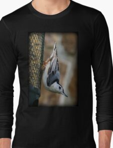 Feeder Nuthatch Long Sleeve T-Shirt