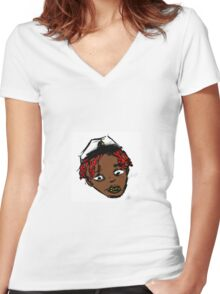 LIL YACHTY - LIL CAPTAIN Women's Fitted V-Neck T-Shirt
