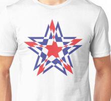 STAR WORLD RED BLUE / WHITE KNOCKOUT Unisex T-Shirt